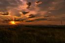 Закат в поле у села Кураповка