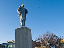 Ленин. Площадь. Зима