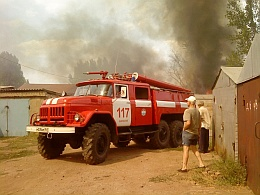 Пожарные на выезде