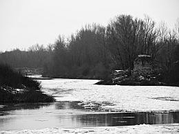 Мельница зимой